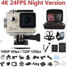 4 К Действий Камеры Ночного Видения Wi-Fi Ultra HD Камера Спорта 2.0 дюймов Водонепроницаемый 16MP 170 Градусов Экстремальный Вид Спорта Камера Спорта Д. в.
