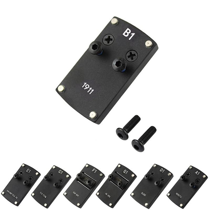 Vulpo micro reflexo red dot sight placa adaptador base de montagem para glock colt 1911 beretta hk usp sig p226 springfield xd s & w m & p