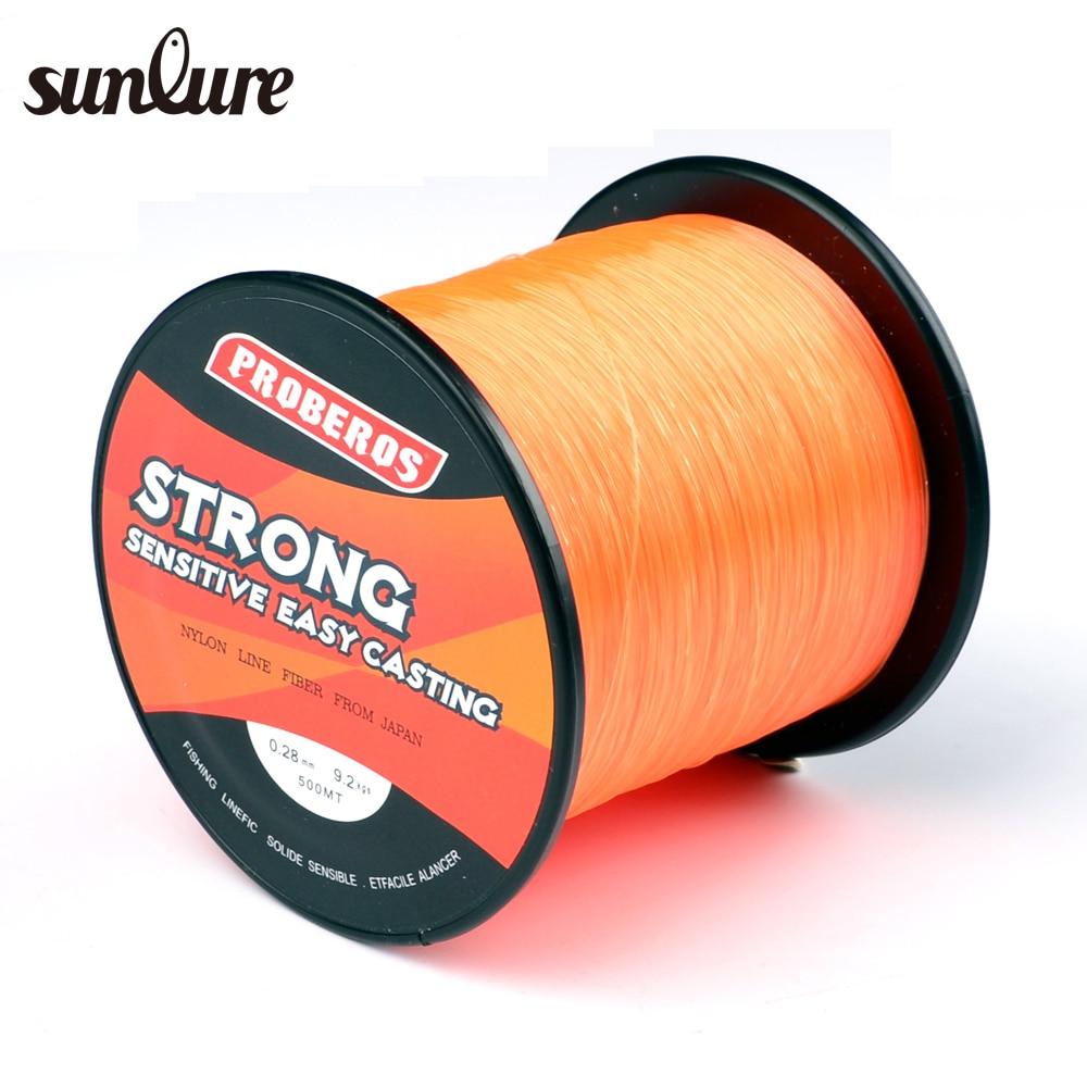 1pc nylon line 500m orange fishing line monofilament for Nylon fishing line