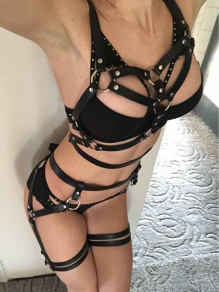 CEA. жгут кожаное нижнее белье 2 шт набор пояса с резинками сексуальные женщины талия к бандаж для ног ботинки с ремнями бюстгальтер подвязка пояс