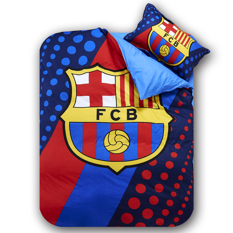 home textile barcelona duvet covers football bedding sets fan bedroom set bed sheet set comforter cover barcelona bedroom