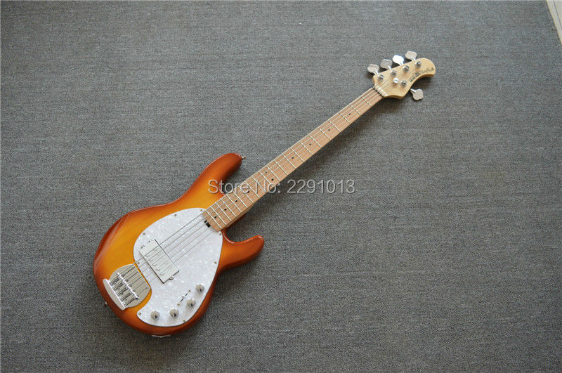 best 5 strings musicman bass guitar sting ray5 with maple fretboard free shipping in guitar from. Black Bedroom Furniture Sets. Home Design Ideas