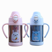 Hot sale Stainless steel Insulated baby sport vacuum water Kettle Portable travel double cap straw thermos bottles with rope hot insulated double layer proof electric kettle anti dumping stainless steel kettles overheat protection