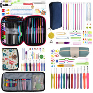 Crochet-Hook-Set Scissors Stitch-Holder Knitting-Needles Yarn 17-Styles-Set with Gauge