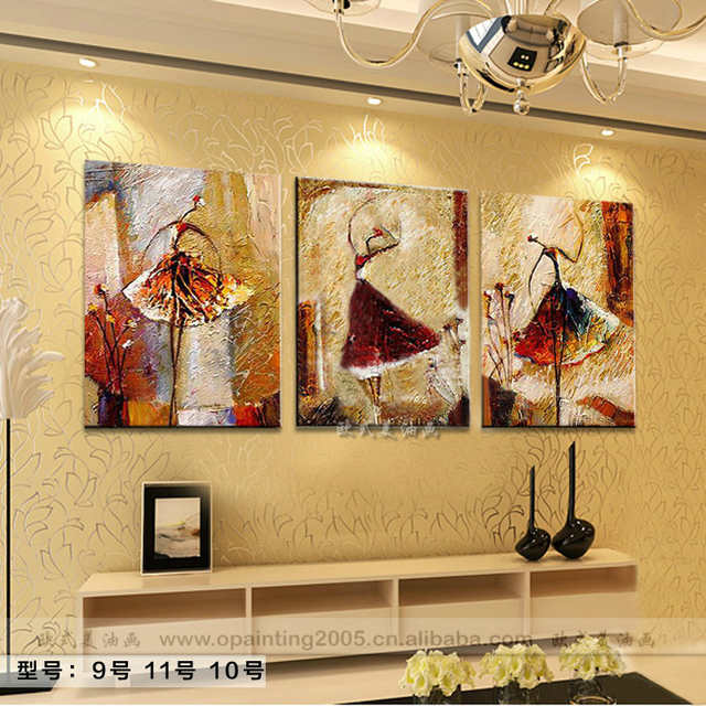 Hand-Painted Home Decor Canvas Abstract Oil Painting Abstract Ballet Dancer  Craft The Price for