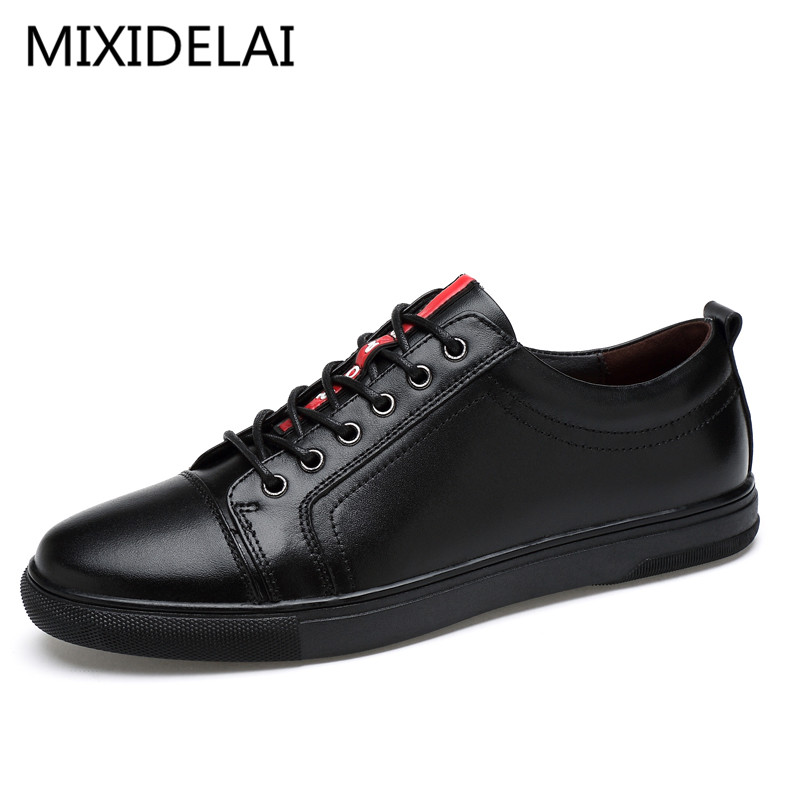 Big Size Flats Shoes High Quality Genuine Leather Men Casual Shoes Fashion Breathable Male Shoes Real Leather Men Flats genuine leather men casual shoes plus size comfortable flats shoes fashion walking men shoes