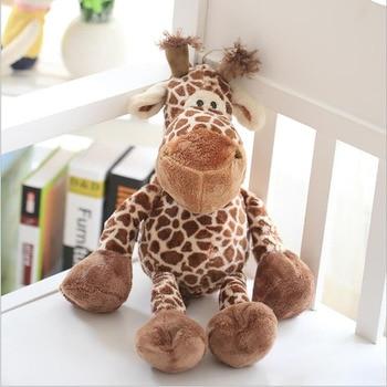 Cute 23cm big giraffe lovely plush stuffed animal deer doll toys for kids christmas gifts