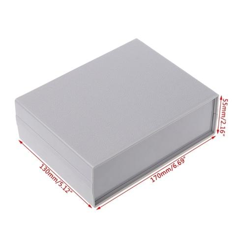 caixa de projeto eletronico plastico gabinete instrumento escudo caso diy 130x170x55mm