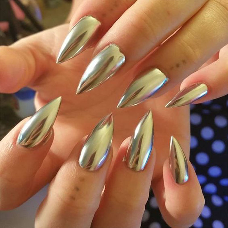 Mirror Chrome Refective Nail Powder In 5g Jars Metallic Polish Effect Glitter Shinning Pigment With 2 Brush Tools D1173 From Beauty