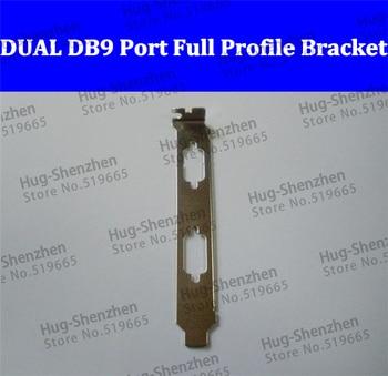 DUAL DB9 Com Serial Port Full Profile Bracket for PCI/PCI-E 100pcs/lot