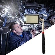 Телескопическое гибкое зеркало для осмотра с радио с фонариком 360 Поворотный для дополнительного просмотра портативный автомобильный инструмент