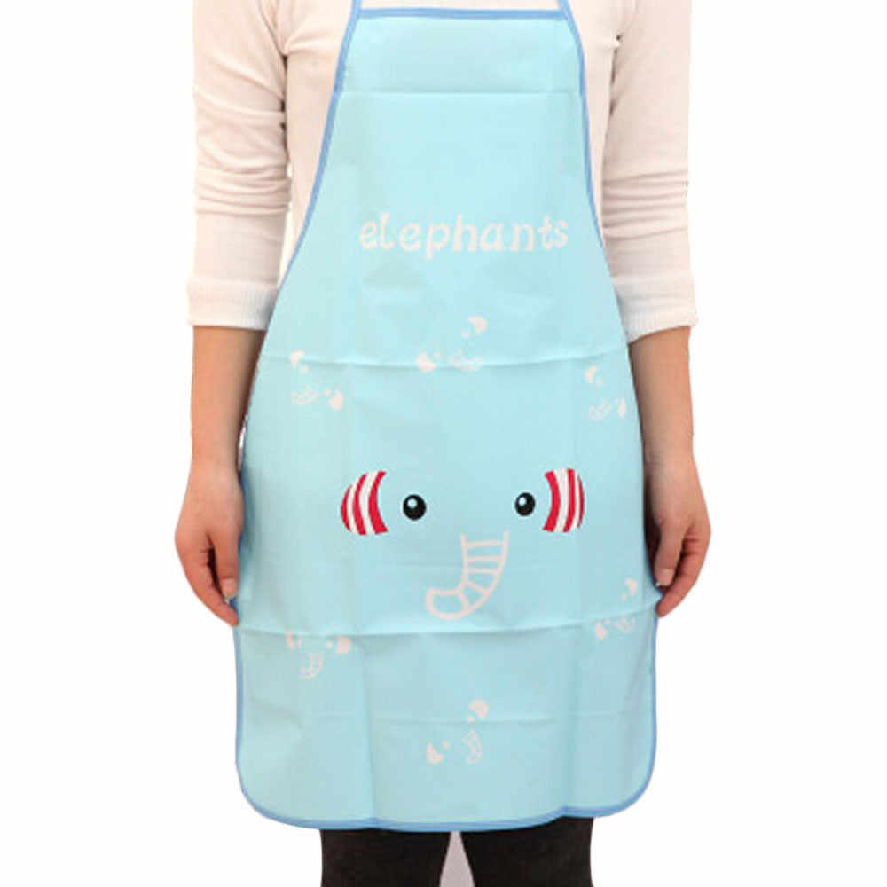 Delantal impermeable de PVC de animales de dibujos animados cocina restaurante delantales de cocina 70*50 cm accesorio de cocina # K26