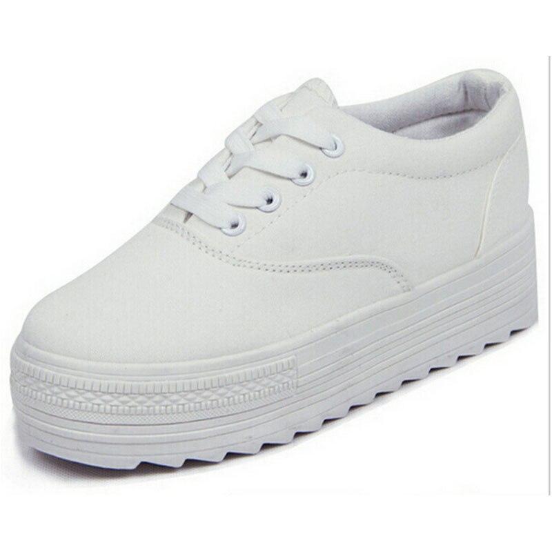 ᗐfashion canvas shoes ξ platform height increasing