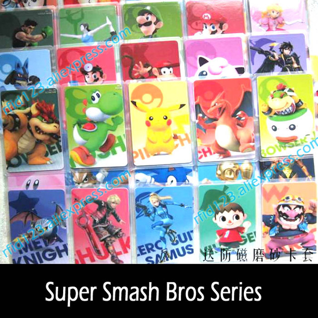 62pcs NFC NTAG215  Card Work For Super Smash Bro. Series NFC Printing Card