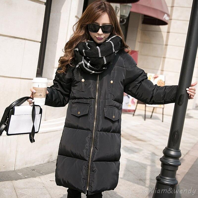 Womans Winter Warm Cloak Windcheater Hooded Cheap Long Big font b Jacket b font Thick Maxi