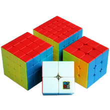 MoYu Cube Set 2x2x2 3x3x3 4x4x4 5x5x5 Stickerless Magic Cube Puzzle for Boys 2*2*2 3*3*3 4*4*4 5*5*5 Mofangjiaoshi Cubos 1 pc 2 5 2 5 2 5cm cube defective cross dichroic prism rgb combiner splitter glass decoration