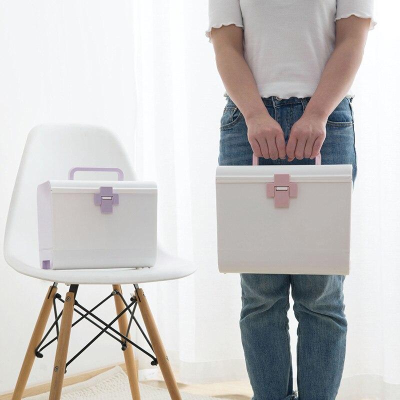 Boîte de rangement en plastique organisateur de médecine tiroirs cosmétique affichage organisateur de stockage bureau articles divers maquillage boîtes à conteneurs