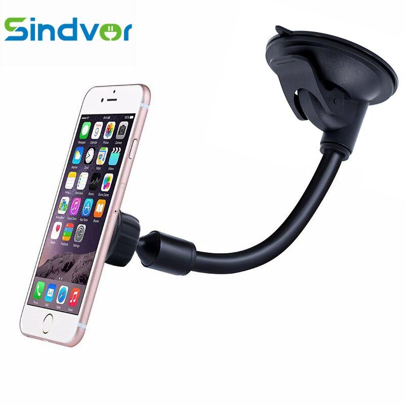 Sindvor Magnetische Handyhalter Handy Armaturenbrett Windschutzscheibe Stehen Auto Lange schwanenhals Halterung für Gps Samsung iPhone 5 6 7 8 X