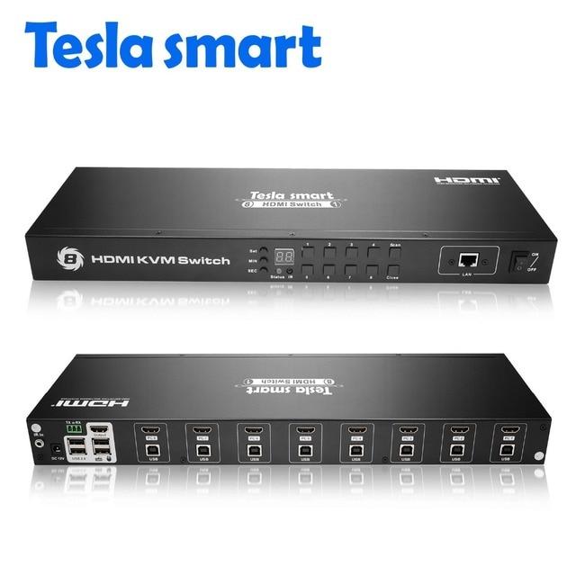 Tesla smart 2018 KVM USB HDMI Switch 8 Port KVM HDMI Switcher KVM