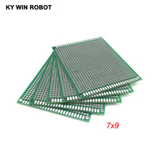5pcs 7x9cm 70x90mm Double Side Prototype PCB Universal Printed Circuit Board Protoboard For Arduino