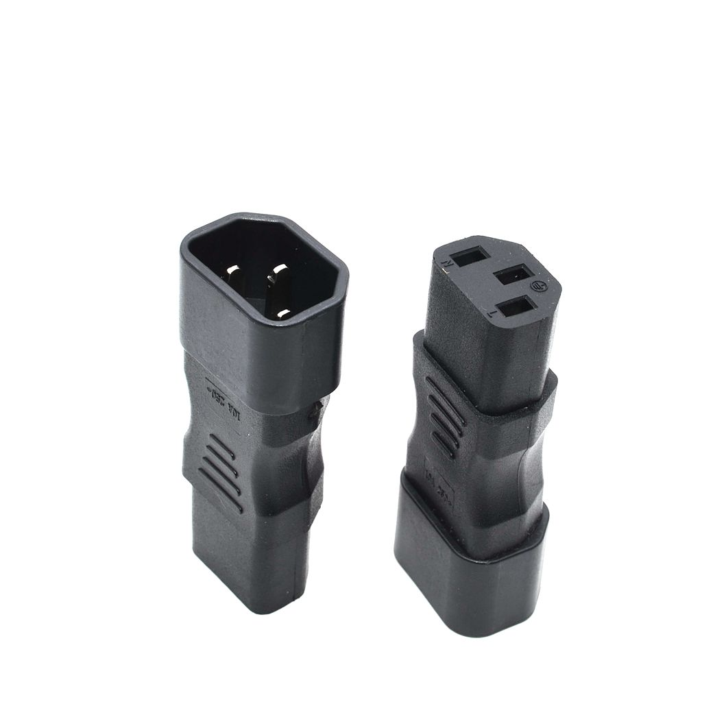 все цены на Straight power Plug adapter IEC 320 C14 3pin male to C13 female Connector,1pcs онлайн