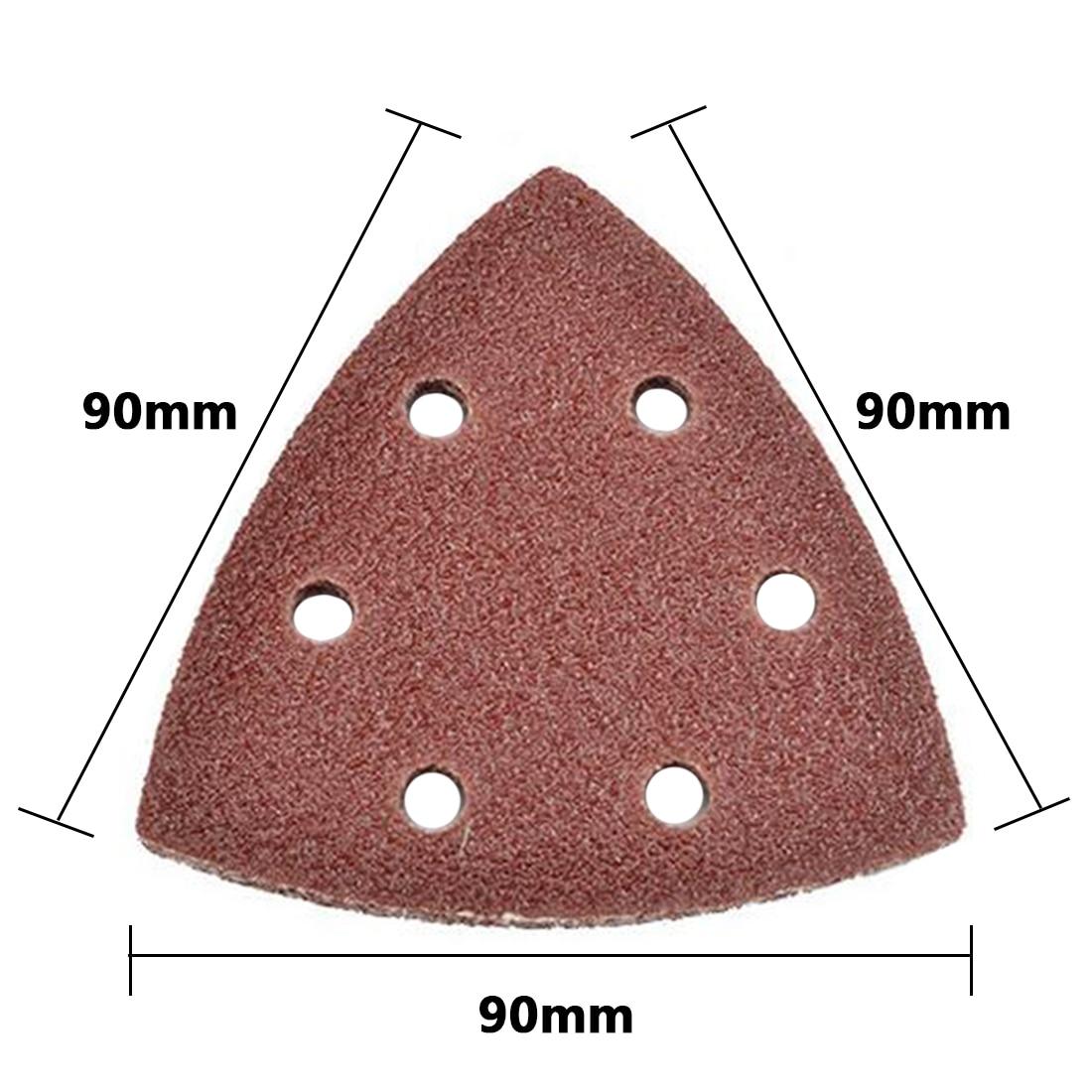 25PC 90mm Delta Sander Sand Paper Hook & Loop Sandpaper Disc Abrasive Tools For Sanding Grit 40-320