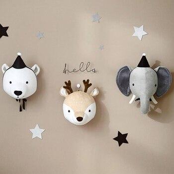 פרצופי חיות לתלייה על הקיר לעיצוב חדר ילדים