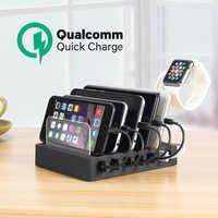 Charging Station with Quick Charge QC 3.0,Fastest 6-Port Docking Station,USB Charging Station for Multiple Devices,Phones,Tablet