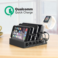 Charging Station with Quick Charge QC 3.0,Fastest 6 Port Docking Station,USB Charging Station for Multiple Devices,Phones,Tablet