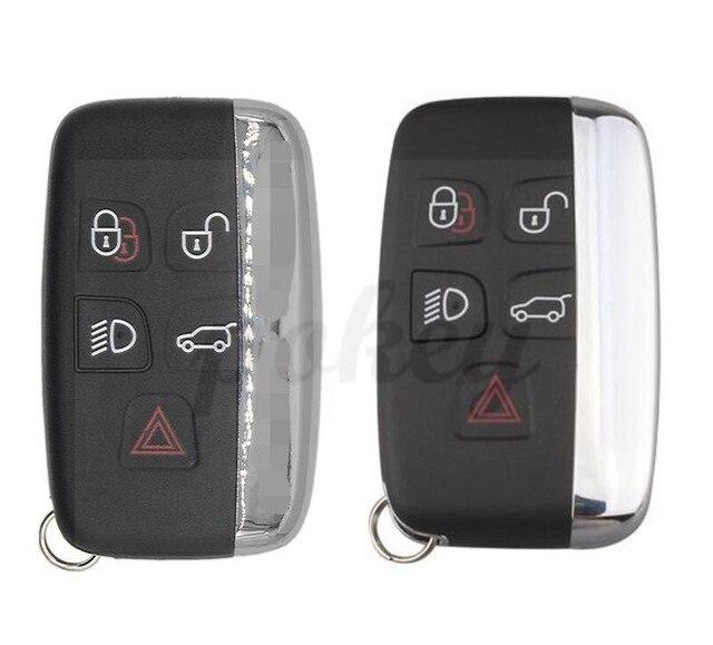 For Land Rover  5 button Car Key Case Shell Cover Evoque Discovery 4 Rover Evoque For XE XFL et Jaguar Freelander