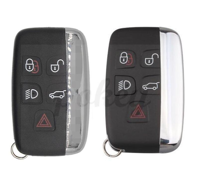 Pour Land Rover 5 boutons couverture de porte-clés coquille de voiture Evoque découverte 4 Rover Evoque pour XE XFL et Jaguar Freelander