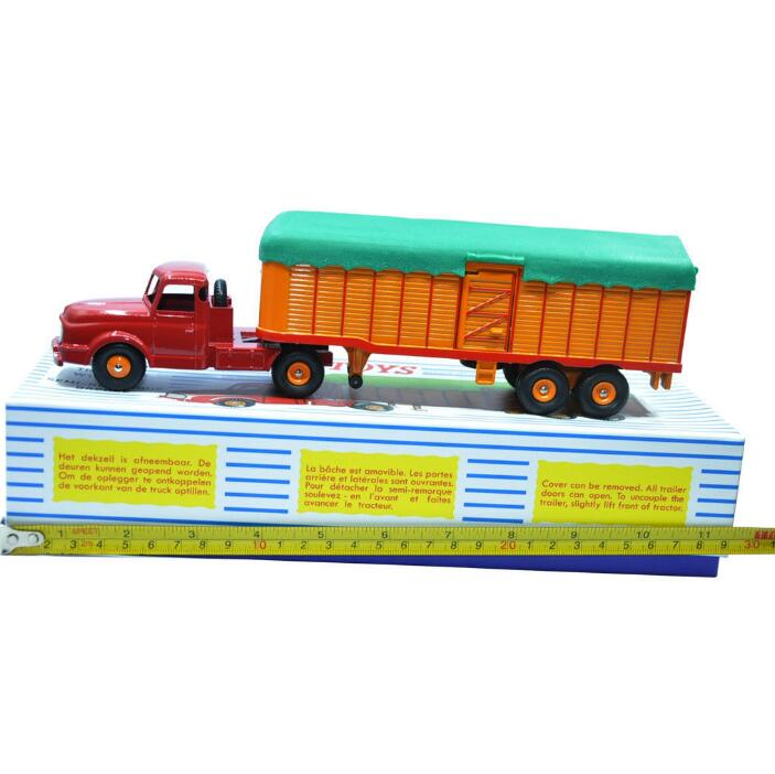Купить с кэшбэком 1:43 Diecast CAR MDOEL BEST Atlas Dinky SUPERTOYS 36B SEMI REMOROUE FRUEHAUF