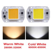 10PCS/LOT COB LED Lamp Chip  15W 25W Bulb 220V/110V Smart IC Driver Cold Warm White Spotlight Floodlight