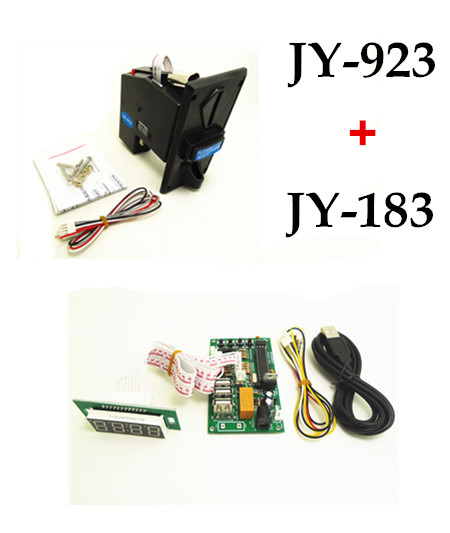 JY-923 multi coin selector with JY-183 USB timer board, control keyboard, mouse, any USB devices