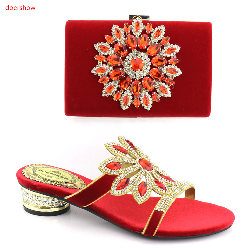 doershow newMatching Women Shoes and Bag Italian Shoes with Matching Bags for Women Nigerian Shoes and Bag Set for Wedding!HV1-1 doershow italian shoes with matching bag high quality italy shoe and bag set for wedding and party purple free shipping hv1 59