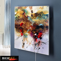 360W Customized Design Painting Infrared Heater Panel Home Office Salon Heating Solution 500 600mm