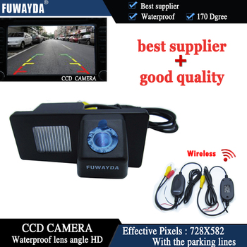 FUWAYDA Wireless Car Rear View Reverse Color CCD DVD GPS Navigation Kits CAMERA for Ssangyong Rexton / Ssang yong Kyron image