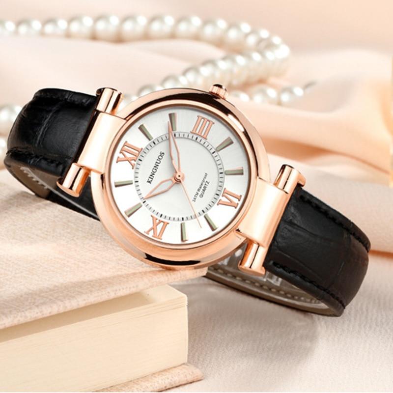 Fashion Rose gold Dial Zegarki damskie Luksusowe romantyczne - Zegarki damskie - Zdjęcie 4