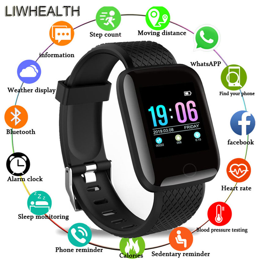 Cheap Smart Watch Band Men/Women Step Sleep HR reloj Smartwatch Fit For APPLE/Xiaomi/Huawei VS Mi Band 4/B57 Montre Connect