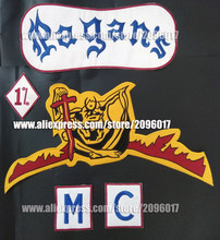 AANGEPASTE PAGAN'S BIKER PATCHES VOOR MOTORFIETS KLEDING VEST JAS 1% MC IRON OP GEBORDUURDE PAGAN PATCHES BADGES STICKER(China)