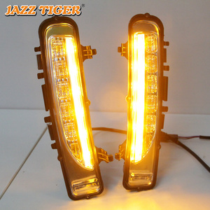 Image 4 - JAZZ TIGER Yellow Turning Signal Function Waterproof ABS 12V Car DRL Lamp LED Daytime Running Light For Ford Edge 2009   2014