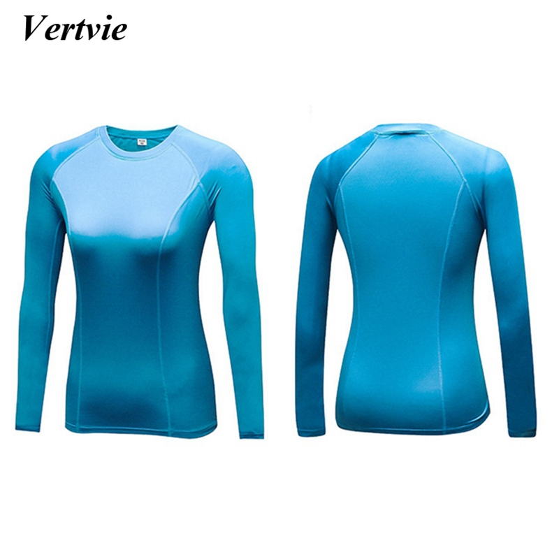 Vertvie Fleece Lined Winter Womens O Neck Thermal Compression Shirt Elastic Warm Long Sleeve Tshirt Fitness Running Jogger Tops