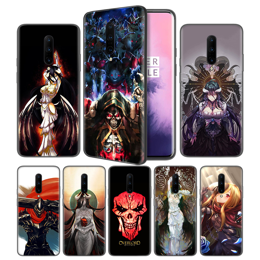 Overlord Anime Soft Black Silicone Case Cover for font b OnePlus b font 6 6T font