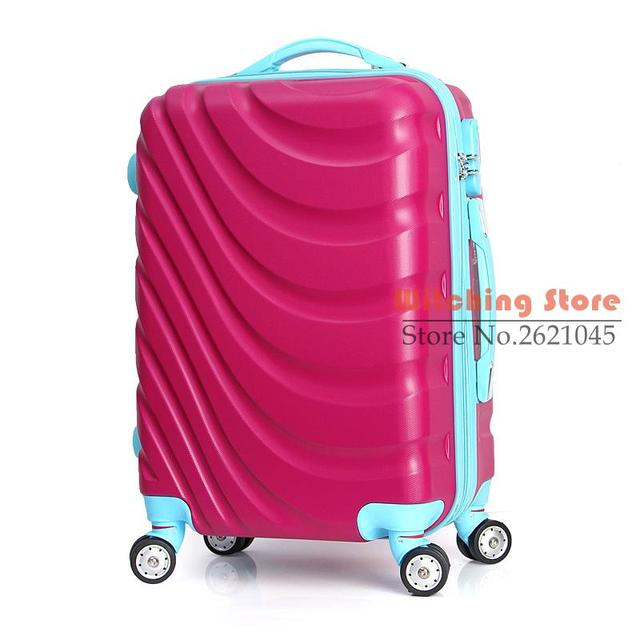 24 INCH  2024# Spot direct ABS universal wheel to board the plane travel luggage trolley box #EC FREE SHIPPING