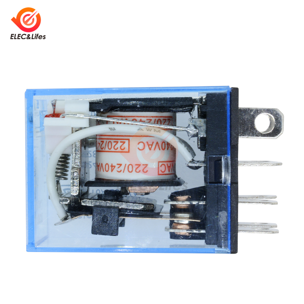 8Pin DC 12V 10A Small Relay Omron LY2NJ Coil DPDT for LED lamp