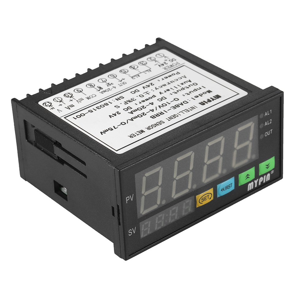 Multi functional DC 24V Digital LED Display Sensor Meter with 2 Relay Alarm Output and 0~10V/4~20mA/0~75mV Input