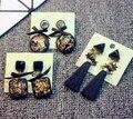 Cute rhinestone  Alloy Mineral stones drop tassel Earrings Charming Bowknot stars Earrings girl female jewelry accessories