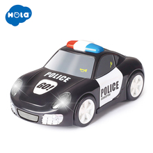 HUILE TOYS 6106A Baby Toys Rapid Police Model Car with Touchable Function Pull Back Cars for Children 2 Color