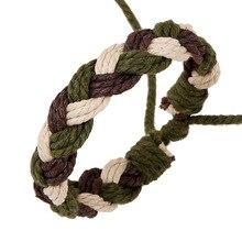 Simple Fashion Handmade Hemp Rope Woven Bracelet European and American Mens Accessories Adjustable Jewelry