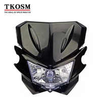 TKOSM Motorcycle Universal Headlight Fit IRBIS TTR250 KLX150 250 KAYO T4 T6 Pit Pro Dirt Bike Motocross